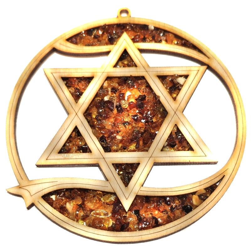 Bernsteinbild Stern 10 cm Durchmesser