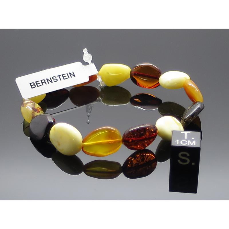 Bernstein Armband Bohne unregelmäßig groß