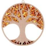 Bernsteinbild Baum des Lebens 10 cm Durchmesser
