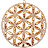 Bernsteinbild Blume des Lebens 10 cm Durchmesser