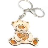 Bernstein Schlüsselanhänger Bär