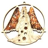 Bernsteinbild Engel groß 10 cm Durchmesser