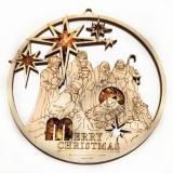 Bernsteinbild Merry Christmas 10 cm Durchmesser