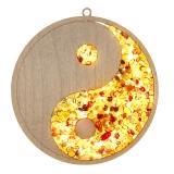 Bernsteinbild Yin und Yang 10 cm Durchmesser