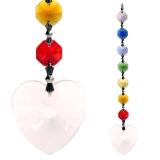 Lichtfänger Feng-Shui Herz mit Chakrakette