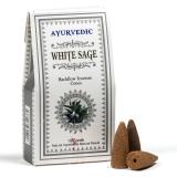 Ayurvedische Rückfluss Räucherkegel Weißer Salbei 10 Stück