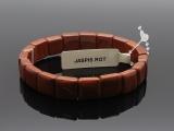 Jaspis rot Armband Quadrate klein